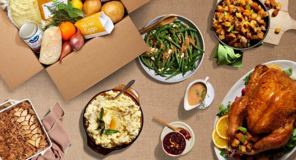 Hello Fresh Thanksgiving meal Delivery