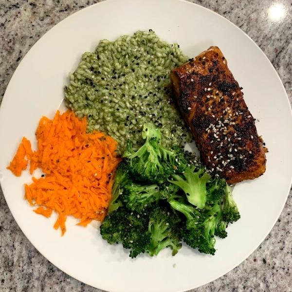 Salmon & Cilantro Rice bowls