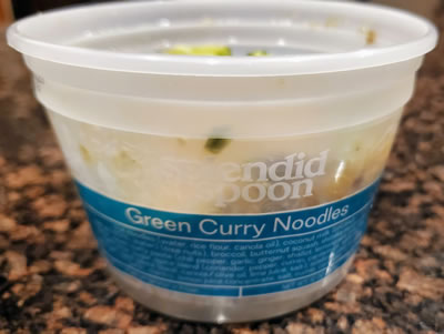 green curry noodles container