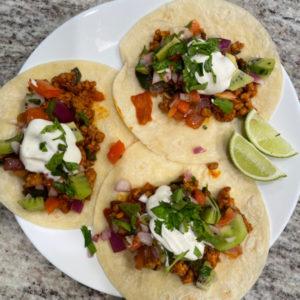 Pork and Poblano Tacos
