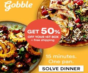 Gobble 50% off c