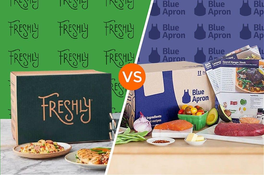 Freshly vs Blue Apron copy