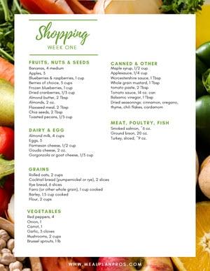 Nordic Diet Shopping List