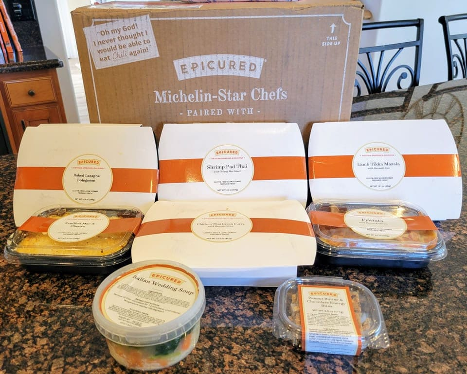 Epicured meal delivery box