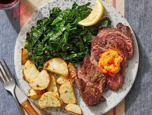 Blue Apron Seared Steaks and Calabrian Chile Butter